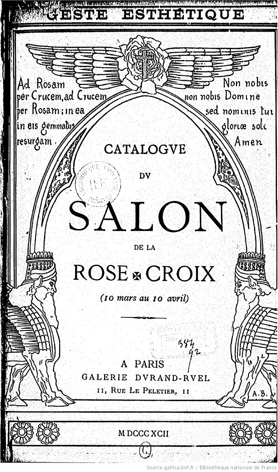 Public Eye JS 320 2 The First Salon Of Theosophy The Antechamber Rose Croix Frontispiece