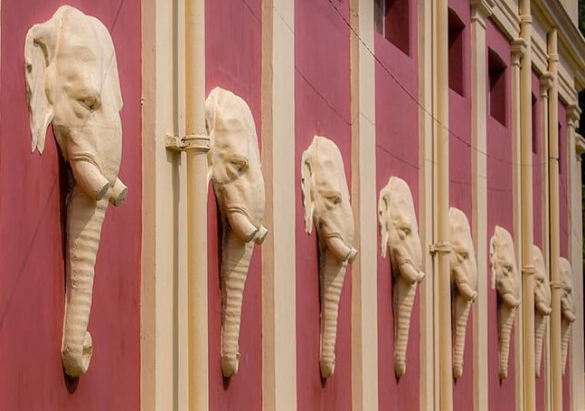 Theosophy 420 z 1 elephants at the headquarters building