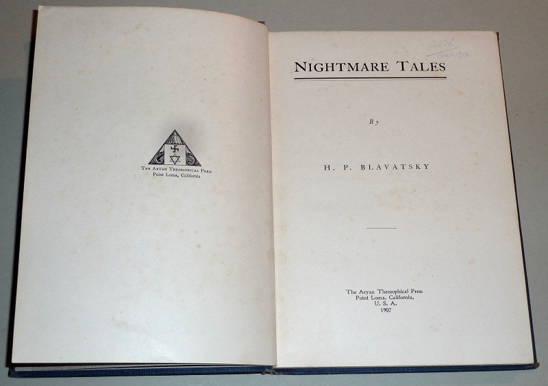 Public Eye JS 7 1907 Point Loma Edition of HPB Nightmare Tales 3