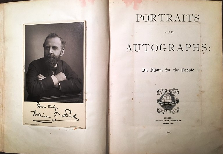 Public Eye Sipe 3 q 1890 Portraits and Autographs an album for the people 1