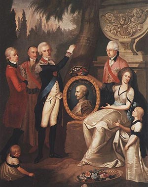 Public Eye The Story of Count Prozor 2  476px-Portrait of Prozor Family c 1800