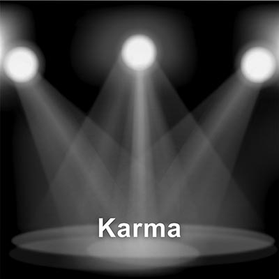 Theosophy 7 Jewels 2 tralen-zwart-wit karma